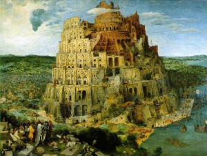 La tour de Babel d'après Bruegel l'Ancien
